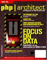 Tài liệu FOCUS ON DATA XMLPULL AS AN ALTERNATIVE TO DOM & SAX doc