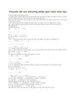 Tài liệu Chuyên đề các phương pháp giải toán hóa học pdf