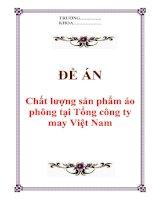 """Tài liệu Đề án """"Chất lượng sản phẩm áo phông tại Tổng công ty may Việt Nam"""" doc"""