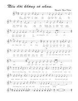 Tài liệu Bài hát nếu đời không còn nhau - Nguyễn Ngọc Thiện (lời bài hát có nốt) ppt