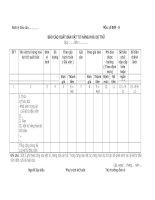 Tài liệu Mẫu Báo cáo xuất bán vật tư hàng hóa dự trữ ppt