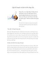 Tài liệu Lập kế hoạch và lịch trình công việc pdf