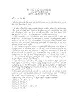 Tài liệu Đề cương ôn tập thi cuối học kỳ Môn Xác suất - Thống kê pdf