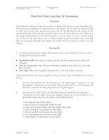 Tài liệu Phân tích chiến lược định vị pdf