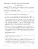 Tài liệu TOEFL - Essay Writing Tips docx