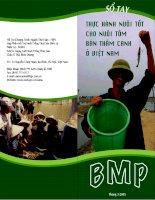 Tài liệu Sổ tay thực hành nuôi tôm bán thâm canh ppt