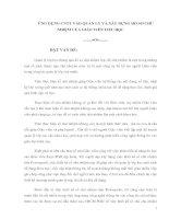 Tài liệu ỨNG DỤNG CNTT VÀO QUẢN LÝ VÀ XÂY DỰNG HỒ SƠ CHỦ NHIỆM CỦA GIÁO VIÊN TIỂU HỌC docx