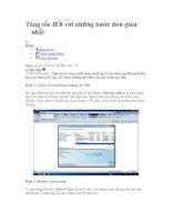 Tài liệu Tăng tốc IE8 với những bước đơn giản nhất ppt