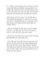 Tài liệu Kinh nghiệm sống của nhà tỉ phú Mỹ Warreen Buffett doc