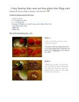 Tài liệu Cùng thưởng thức món mì tôm phiên bản Pháp nào! pdf