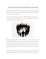 Tài liệu 13 cách khuyến khích tinh thần làm việc nhóm ppt