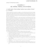 Tài liệu Bài giảng hệ thống viễn thông 2 - Chương 3: Hệ thống thông tin di động ppt