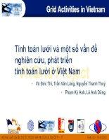 Tính toán lưới và một số vấn đề nghiên cứu, phát triển tính toán lưới ở Việt Nam