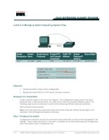 Tài liệu Lab 6.2.7a Managing Switch Operating System Files pptx