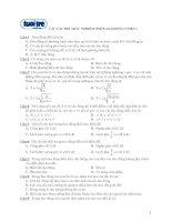 Tài liệu Các câu hỏi trắc nghiệm (Phần dao động cơ học) doc