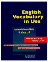 Tài liệu English vocabulary in use upper intermediate and advnaced pptx