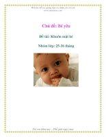 Tài liệu Chủ đề: Bé yêu - Đề tài: Khuôn mặt bé - Nhóm lớp: 25-36 tháng ppt