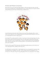 Tài liệu Giới thiệu ngành PR(quan hệ công chúng) pdf