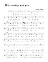 Tài liệu Bài hát mái trường mến yêu - Lê Quốc Thắng (lời bài hát có nốt) pptx