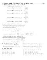 Tổng hợp công thức toán lớp 9