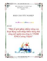 Tài liệu Luận văn tốt nghiệp ''''''''Một số giải pháp nhằm nâng cao hoạt động xuất nhập khẩu hàng thủ công mỹ nghệ của công ty TNHH XNK Cường Thịnh'''''''' docx