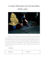 Tài liệu Áo giáp chống đạn cho mọi hợp đồng (Phần cuối) docx