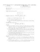 Tài liệu Đề thi thử đại học môn Toán đợt 1 - THPT Đào Duy Từ Hà Nội pptx