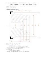 BÁO CÁO BÀI TẬP LỚN CAD – CAM – CNC