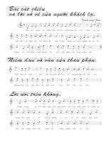 Tài liệu Bài hát dã tràng 3 - Trịnh Công Sơn (lời bài hát có nốt) pptx