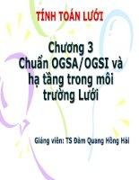 Bài giảng tính toán lưới chương 3 chuẩn OGSA/OGSI và hạ tầng trong môi trường lưới