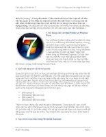 Tài liệu 5 mẹo lợi dụng các tính năng Windows 7 pdf