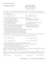 Tài liệu Đề thi thử Đại học Cao đẳng năm 2010 môn Vật lý - đề số 1 docx