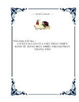 Tài liệu Tiểu luận triết học - CƠ SỞ LÍ LUẬN CỦA VIỆC PHÁT TRIỂN KINH TẾ HÀNG HÓA NHIỀU THÀNH PHẦN TRONG THỜ ppt