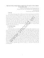 Tài liệu MỘT SỐ CÔNG NGHỆ TRONG THIẾT KẾ XÂY DỰNG CÔNG TRÌNH NGĂN SÔNG LỚN ppt