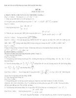 Tài liệu Đề thi môn Toán - Bám sát cấu trúc đề thi Đại học năm 2009 của Bộ Giáo Dục (ĐỀ 01) pptx