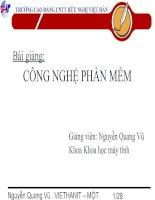 Tài liệu Bài giảng môn Công Nghệ Phần mềm pptx