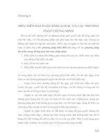 Giao trinh TRÍ TUỆ NHÂN TẠO   chương 4 BIỂU DIỄN BÀI TOÁN BẰNG LOGIC VÀ CÁC PHƯƠNGPHÁP CHỨNG MINH