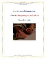 Tài liệu Chủ đề: Nhu cầu của gia đình - Đề tài: Đồ dùng không thể thiếu của tôi - Nhóm lớp: Chồi pptx
