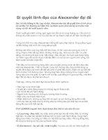 Tài liệu Bí quyết lãnh đạo của Alecxander đại đế pdf