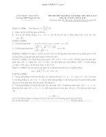Đề thi thử  môm toán Khối  B THPT Ngô Gia Tự Vĩnh Phúc 2014