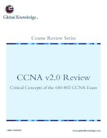Tài liệu CCNA v2.0 Review Critical Concepts of the 640-802 CCNA Exam ppt