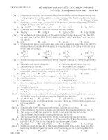 Tài liệu Đề thi thử đại học lần 4 môn Vật lý 2008- 2009 THPT Yên Lạc (Mã đề thi 001) docx