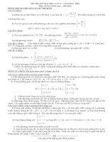 Tài liệu Đề thi thử Đại học lần 2 - năm 2010 môn Toán pdf