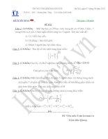 Tài liệu Đề và đáp án thi thử đại học môn Toán 2010_Đề số 4 pdf