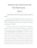 Tài liệu Photoshop - Một vài điều cần biết về Kỹ Thuật Digital Imaging! (Phần 1) pptx