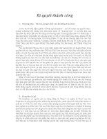 Tài liệu Franchise - Bí quyết thành công pdf