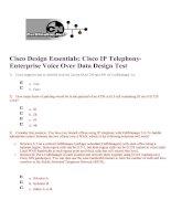 Tài liệu Cisco Design Essentials: Cisco IP Telephony- Enterprise Voice Over Data Design Test pdf