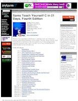 Tài liệu Sams Teach Yourself C in 21 Days - Fourth Edition pptx