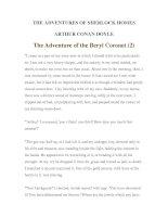 Tài liệu LUYỆN ĐỌC TIẾNG ANH QUA TÁC PHẨM VĂN HỌC-THE ADVENTURES OF SHERLOCK HOMES -ARTHUR CONAN DOYLE 11-2 pptx
