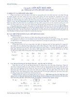 Tài liệu LIÊN KẾT HÓA HỌC - TỔNG QUAN VỀ LIÊN KẾT HÓA HỌC pptx